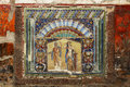 Beautiful ancient mosaic from Herculaneum Fresco of Neptune Royalty Free Stock Photo