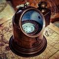 Beautiful ancient nautical compass