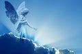 Beautiful angel in heaven Royalty Free Stock Photo