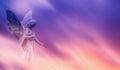Beautiful angel in heaven panoramic veiw Royalty Free Stock Photo