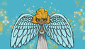 Beautiful angel, illustration