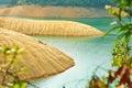 Beautiful aqueous rock the photo was taken in upper shing mun reservoir hongkong china Stock Image