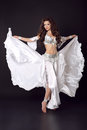 Beautiful Arabian bellydancer sexy woman in bellydance colorful Royalty Free Stock Photo