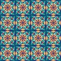 Beautiful arabic design template with seamless arabic pattern. Abstract islamic design. Girih pattern. Royalty Free Stock Photo
