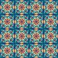 Beautiful arabic design template with seamless arabic pattern. Abstract islamic design. Girih pattern. Royalty Free Stock Photo