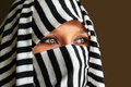 Beautiful arabic woman eyes of Royalty Free Stock Images