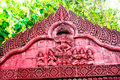 Beautiful architecture building Traditional Thai style church Royalty Free Stock Photo
