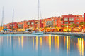 Beautiful architecture of hurghada marina at dusk in egypt Royalty Free Stock Photography