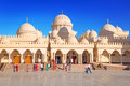 Beautiful architecture of hurghada marina mosque in egypt unidentified people are going to on apr this new built muslim is the Royalty Free Stock Photo