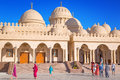 Beautiful architecture of hurghada marina mosque in egypt unidentified people are going to on apr this new built muslim is the Stock Photography
