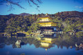 Beautiful Architecture of Kinkakuji Temple The Golden Pavilion Royalty Free Stock Photo