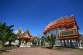 Beautiful architecture landscape of Thai temple Stock Photo