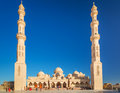 Beautiful architecture of mosque in hurghada egypt Royalty Free Stock Photography
