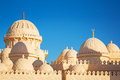 Beautiful architecture of mosque in hurghada egypt Royalty Free Stock Images