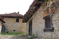Beautiful architecture of old wine cellars rajac a village with traditional houses in the village were built by peasants from the Stock Images