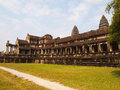 Beautiful architecture the temple of angkor wat in cambodia historic building complex ancient Stock Photos