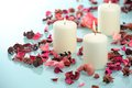 Beautiful aromatic candle Stock Photography