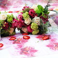 Beautiful arrangement of flowers Royalty Free Stock Photos