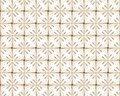 Beautiful art deco pattern with decorative floral shapes. Modern geometric background. Vector geometric pattern style.