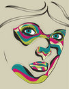 Beautiful artistic portrait illustration of woman Stock Photography