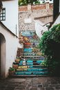 Amazing stairs in Szentendre Royalty Free Stock Photo