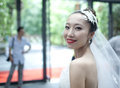 Beautiful asian bride Stock Photography
