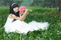 Beautiful asian bride Royalty Free Stock Photo