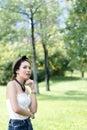 Beautiful asian girl portrait Stock Photo