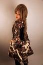 Beautiful asian girl wearing a dress Stock Photo