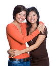 Beautiful Asian sisters isolated Royalty Free Stock Image