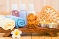 Beautiful asian still life objects and religious statuette Royalty Free Stock Photo