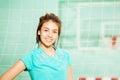 Beautiful Asian teenage girl in sportswear Royalty Free Stock Photo