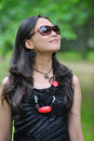 Beautiful asian woman with sunglasses Stock Photography