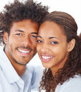 Beautiful attractive African couple smiling Royalty Free Stock Photos