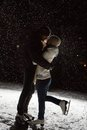 Beautiful, attractive couple on the ice rink Royalty Free Stock Photo
