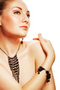 Beautiful attractive woman with accessorize Royalty Free Stock Photos