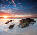 Beautiful australian beach at sunset Royalty Free Stock Image