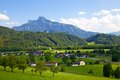 Beautiful Austrian countryside landscape Stock Image