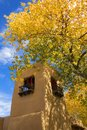 A beautiful autumn day in Santa Fe Royalty Free Stock Photo