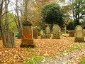 Beautiful autumn in the graveyard scotland Royalty Free Stock Images