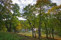 Beautiful autumn park and asveja lake in asveja regional park the lithuania Stock Photos