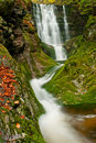 Beautiful Autumn Waterfall Stock Photography