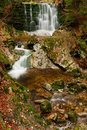 Beautiful Autumn Waterfall Royalty Free Stock Photography