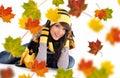 Beautiful  autumn woman. Stock Photo