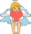 Beautiful baby angel with wings Royalty Free Stock Photo