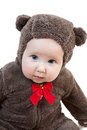 Beautiful baby in costume of bear Royalty Free Stock Photos