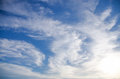 Beautiful background of blue sky with white clouds Stock Photography