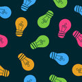 Beautiful background of seamless pattern of light bulbs. Vector illustration for your design. Royalty Free Stock Photo