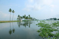 Beautiful backwater destinations of kerala india Royalty Free Stock Image