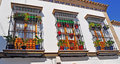 Beautiful balconies Royalty Free Stock Images